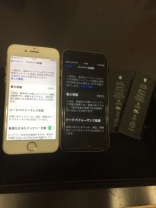 iPhone7、6sバッテリー交換